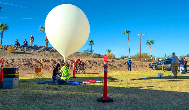 Yuma Baloon Launch 2018